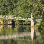 Sunrise On Swinging Bridge
